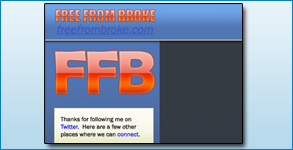 Twitter Background Created: FreeFromBroke.com