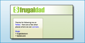 Twitter Background Created: Frugal Dad