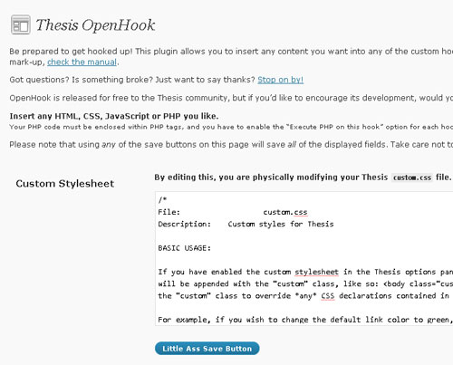 Thesis custom header css