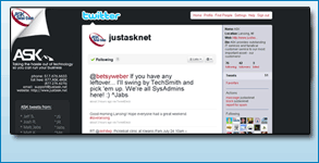 Twitter Background Created: JustAsk.Net
