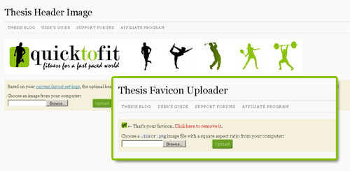 Custom thesis theme header