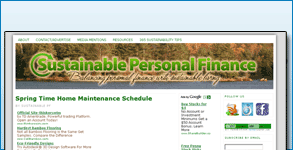 Logo, Favicon, Facebook and Twitter Graphics Created: Sustainable Personal Finance